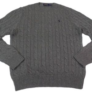 Polo Ralph Lauren Cable Sweater Cotton Pony Logo